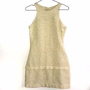 ZARA YellowTweed A Line Sleeveless Dress